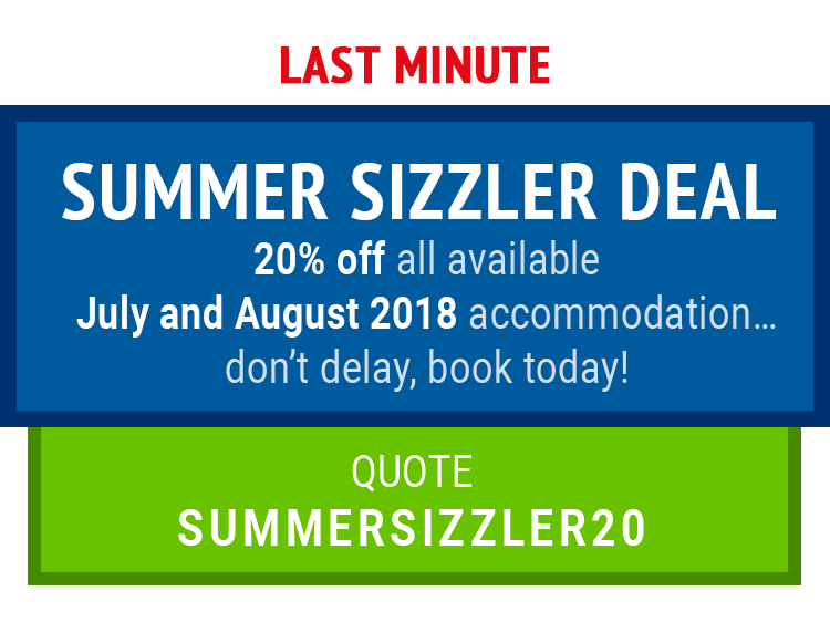 Last minute summer sizzler deal